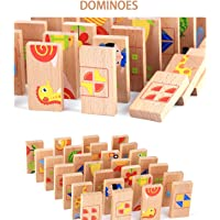 Toyshine 28 Pcs Printed Educational Wooden Toy Domino Animal Puzzles Kids Game Gift