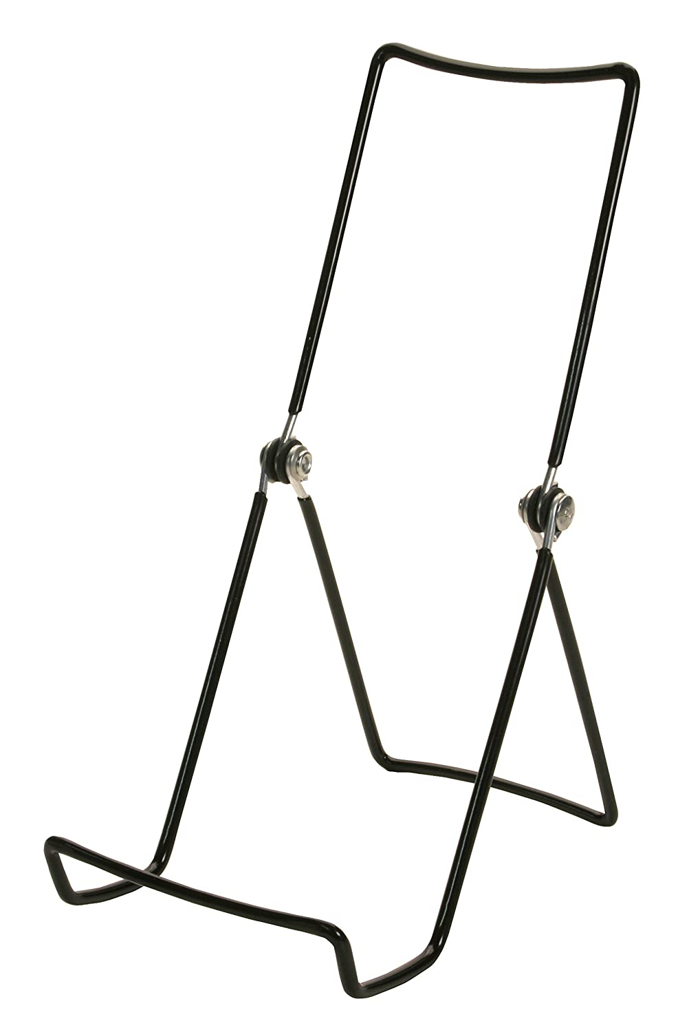 Gibson Holders 3 6ACB Adjustable Wire Display Easels- 3.75 W x 8 H with 2.25 display ledge, Black