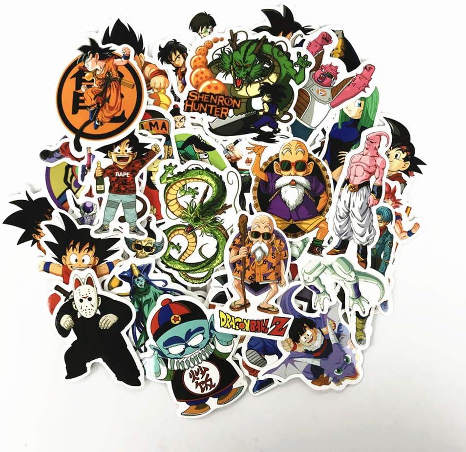 50pcs anime dragon ball adesivi super saiyan goku adesivi decalcomania per snowboard bagagliaio frigo portatile adesivo