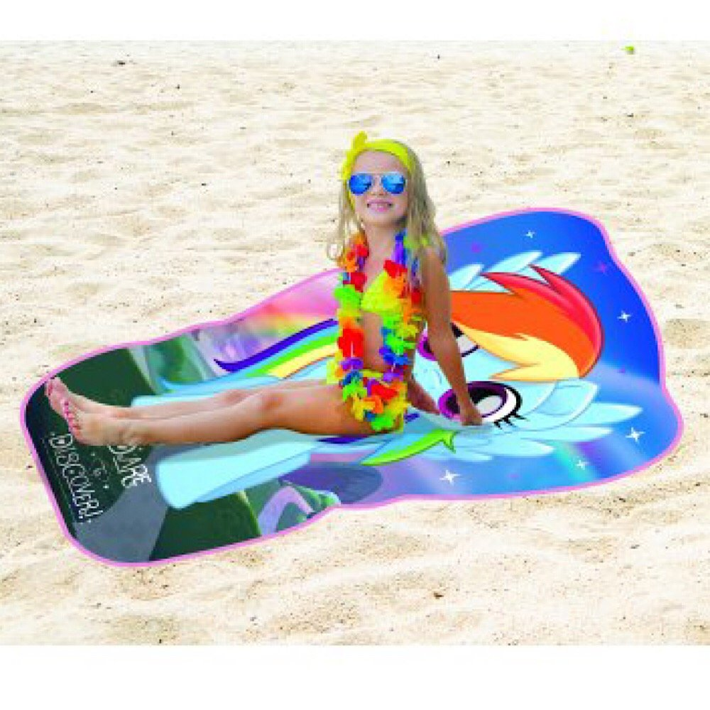 My Little Pony Movie Beach Towel Tropic Dash Shaped