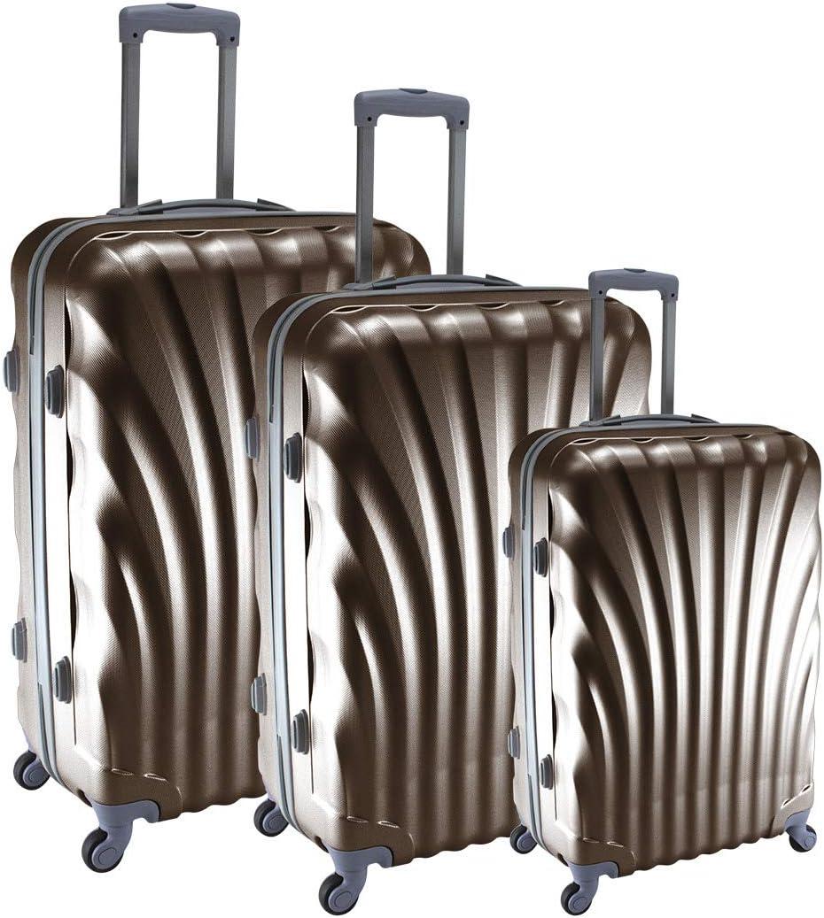 Bronze 50//60//70 cm COMPAGNIE DU BAGAGE 80510 Set de 3 Bagages