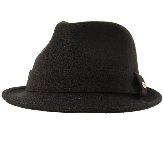 9863e82df3eb3 Men s 100% Soft Wool Winter Fall Derby Fedora Trilby Classy Hat S M Black