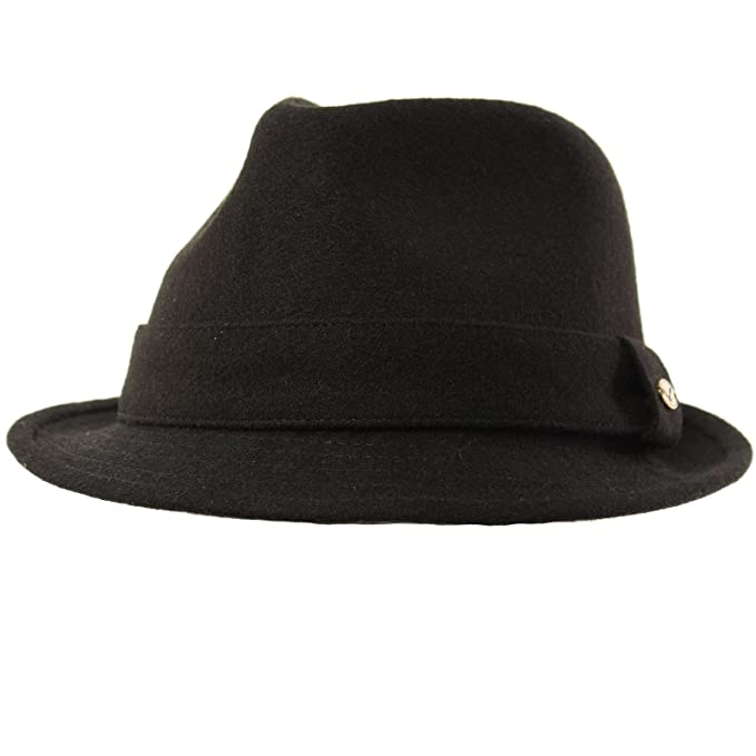 SK Hat shop Men s 100% Soft Wool Winter Fall Derby Fedora Trilby Classy Hat  at Amazon Men s Clothing store  d2b4bdf5212