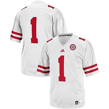 82387b375 Outerstuff Nebraska Cornhuskers  1 White Youth Replica Football Jersey  (X-Large 18