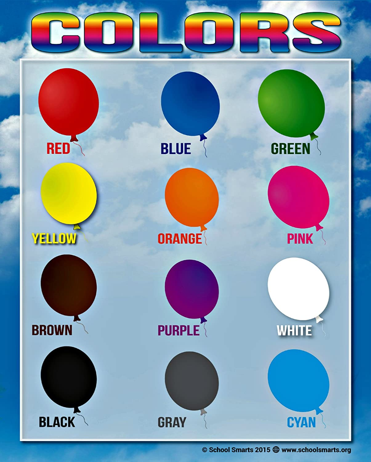 Amazon.com : Colors Chart by School Smarts 12 BOLD Colors ...