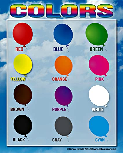 Amazon Colors Chart By School Smarts 12 Bold Colors Fully
