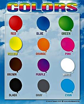 Amazon.com: Colores Chart por la Escuela Smarts ○ 12 ...