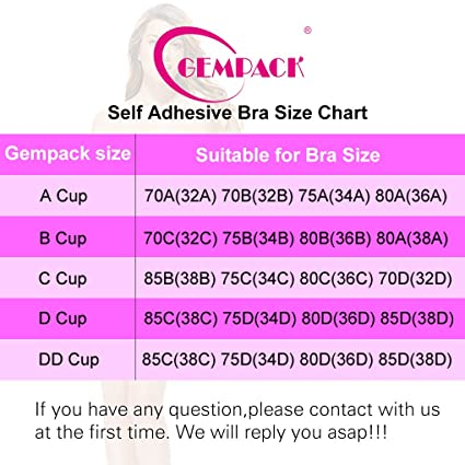 Gempack Push up Adhesive Silicone Bra Deep U-Shaped Reusable Strapless Backless Invisible Bra for Women (Black, C) at Amazon Womens Clothing store: