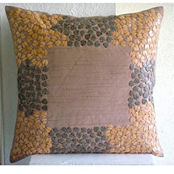 Textured Leaves - Decorativa Funda de Cojin 35 x 35 cm ...