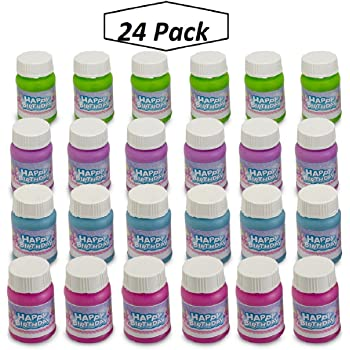 24 Crayon Bubble Bottles in Assorted Colors - Great Kids All Ages - Non-Toxic Materials - Clever No-Mess Design Prevents Spills- Awesome Party Favors, Pinata Fillers Stocking Stuffers Playoly