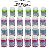 Happy Birthday Bubbles Assorted Color Mini 1 Oz Bubble Bottles 24 Pack - For Children, Parties, Party Favors, Games, Fun, Gifts, Play, And Celebrations -By Kidsco
