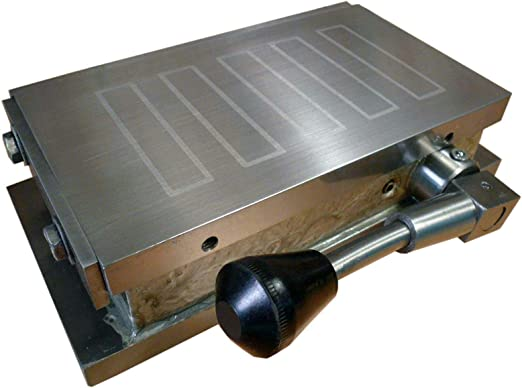 """12/"""" x 6/"""" Magnetic Chuck Permanent Magnet Table Standard Poles"""