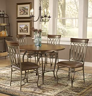 Hillsdale Montello 45 Inch 5 Piece Table Dining Set, Old Steel Finish With