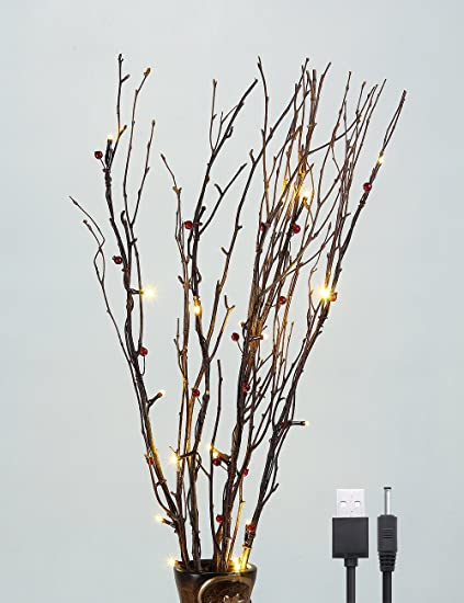 Amazon.com: Lightshare - Lámpara de ramas de bayas naturales ...