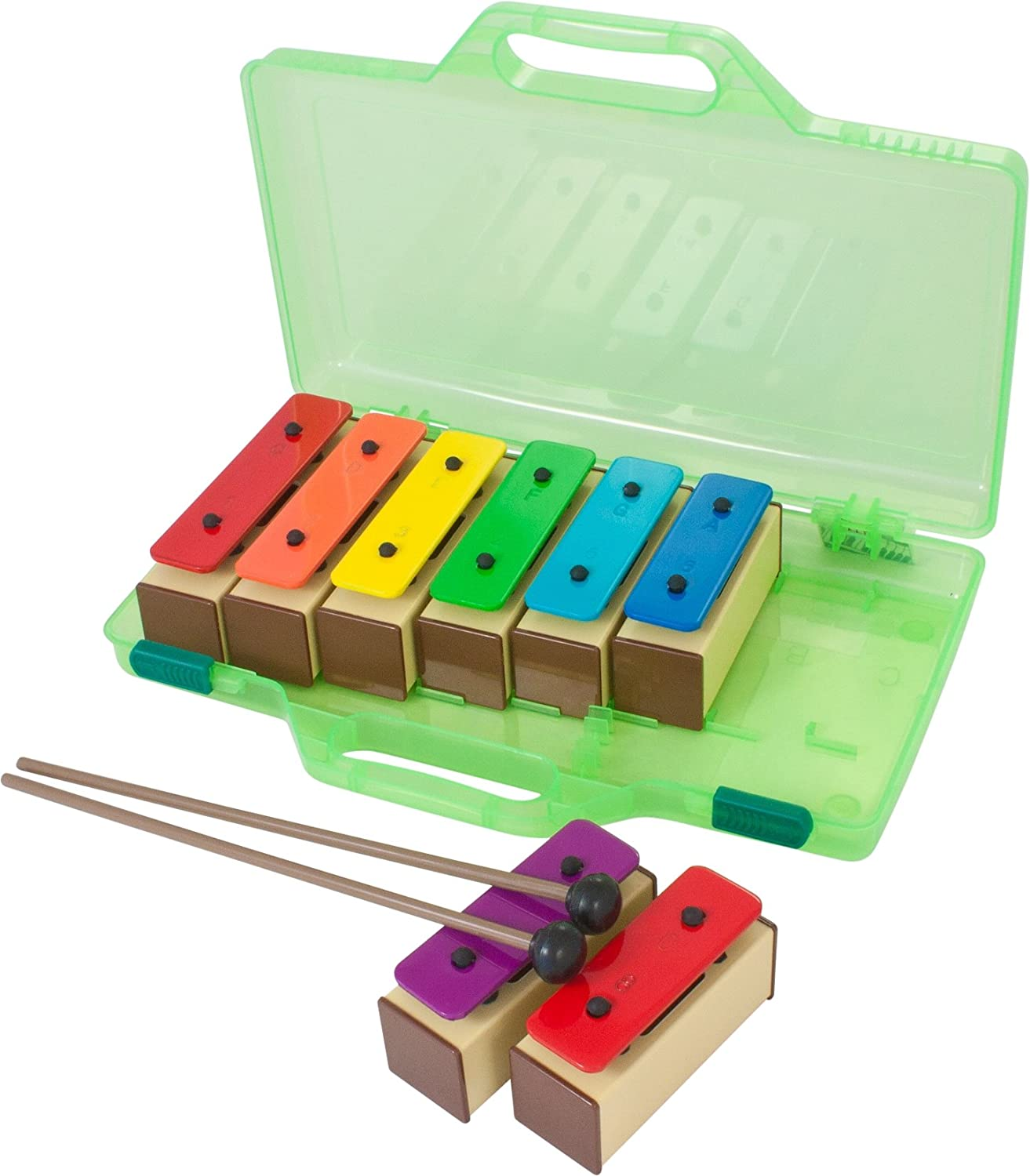 Percussion Workshop KB10 Coloured Chime Bars Set