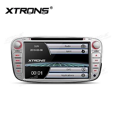 """XTRONS® Plata 7 """"HD Pantalla táctil estéreo de Coche Reproductor de DVD con"""