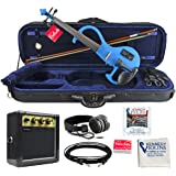 Bunnel EDGE Electric Violin Outfit Bombshell Blue Amp Included