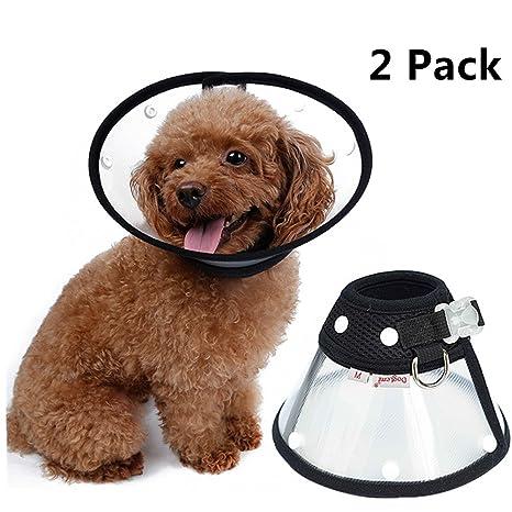 L-Peach 2Pcs Collar de Recuperación de Cono Elizabeth Protector de Heridas para Perros Gatos
