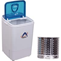 SSGC Single Tub Washing Machine with Steel Dryer Basket (4.6kg, White/Blue)