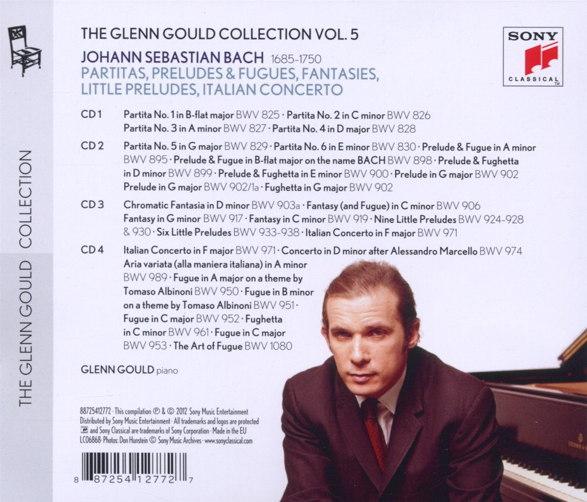 Glenn Gould Plays Bach: 6 Partitas Bwv 825-830; Chromatic Fantasy Bwv 903: Glenn Gould: Amazon.es: Música
