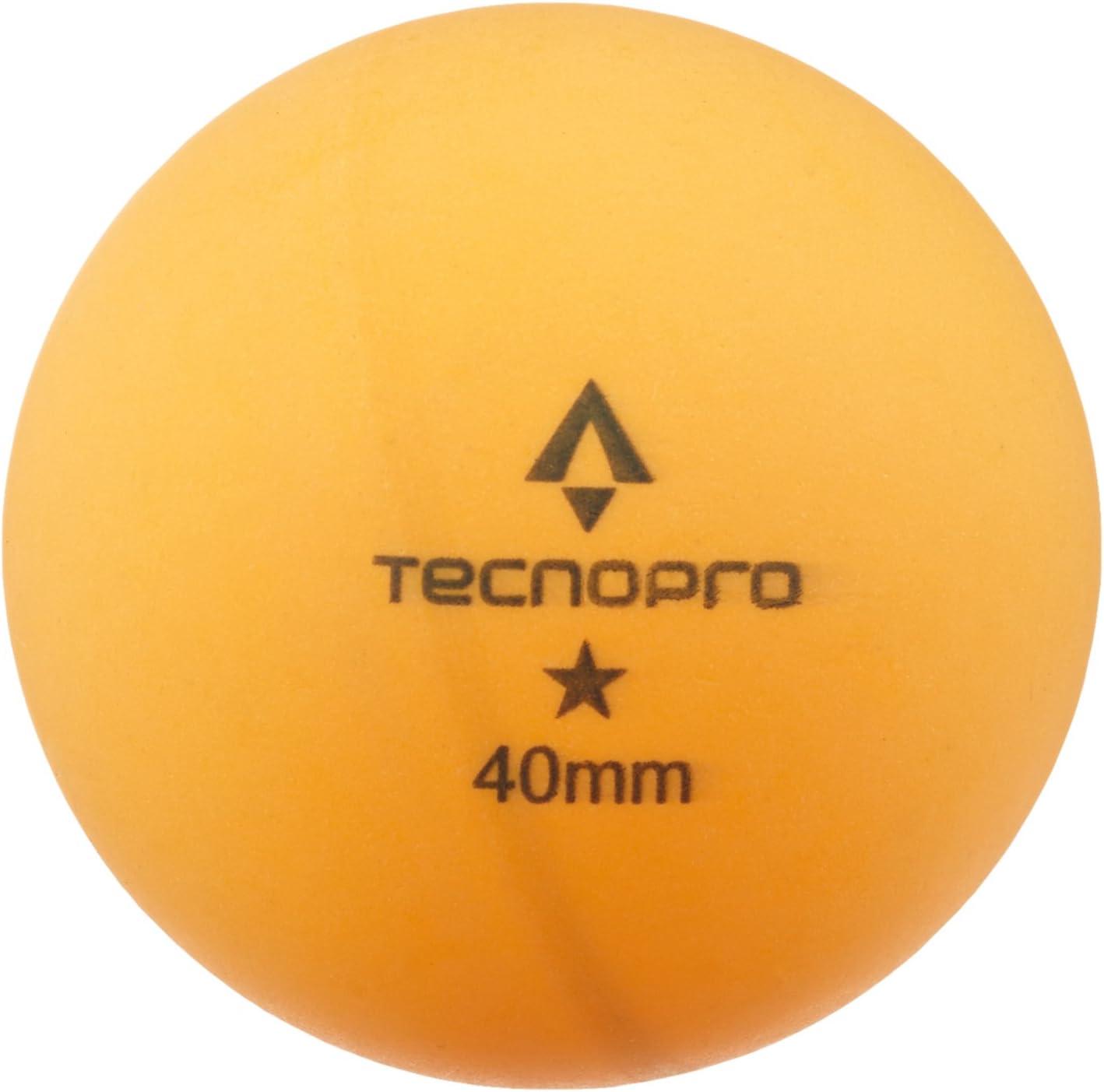 Tecno Pro Unisex Pelota de Tenis de Mesa de 1Estrella de Tenis de Mesa de Entrenamiento