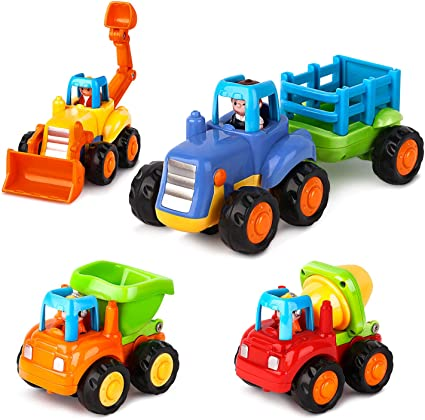 10 pcs Push and Go Friction Powered Car Toy Animal Style Children Baby Gift Cute