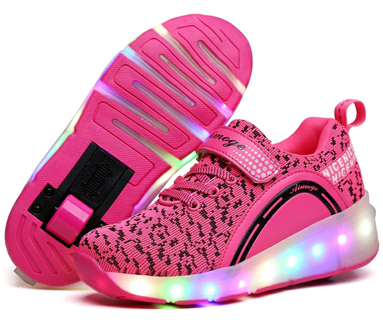 ECOTISH Junge Mädchen Dchen LED Schuhe mit Rollen Herren Skateboard Rollschuhe Damen Sneaker Leuchtend Sport Schuhe Sportschuhe Wanderschuh für Unisex-Kinder kNme2z