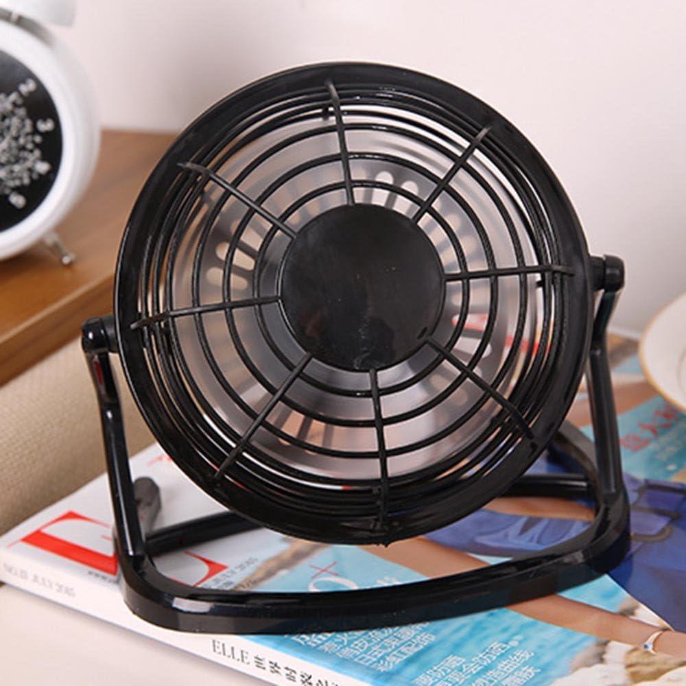 Enhanced Airflow Personal Table Fan Quiet Office Fan black USB Powered Guerbrilla Desktop USB Fan 4 Inch Blades Mini Cooling Fan Metal Design Small Desk Fan Lower Noise