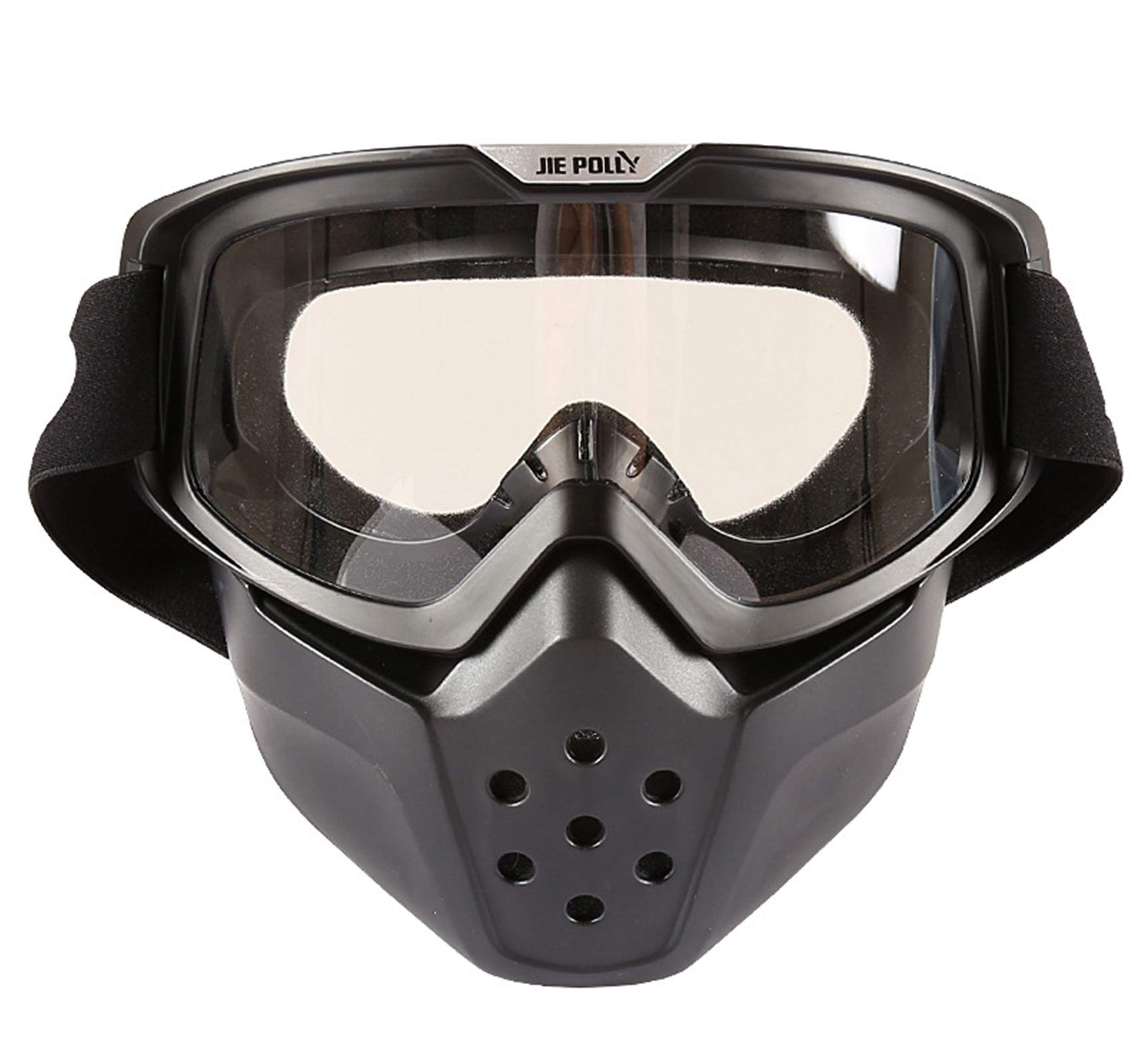Adisaer Sport Brille durchsichtig Shark mask Off-Road Motorcycle Locomotive Sand-Proof Goggles Transparent for Adults