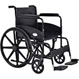 Giantex 24'' Lightweight Foldable Medical Wheelchair w/ Footrest FDA Approved