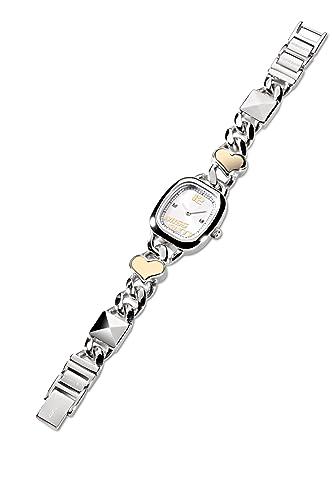 Miss Sixty Reloj Analógico para niña de Cuarzo con Correa en Acero Inoxidable 142-7611-88: Amazon.es: Relojes