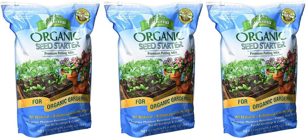 Espoma Organic CCyea Seed Starter, 8 Quart (3 Pack) by Espoma