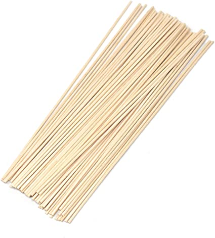 Multi-Colored Wooden Dowel Sticks 80-Count 8-Inch