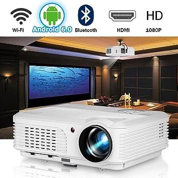 WiFi Proyector de Video Bluetooth 4200 lúmenes Soporte Full HD ...