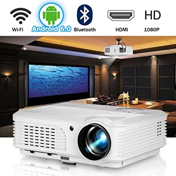WiFi Proyector de Video Bluetooth 4200 lúmenes Soporte Full HD ...