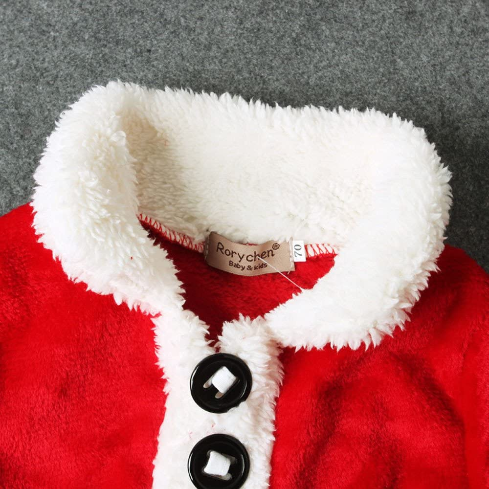 Babychoices Toddler Xmas Outfit Infant Baby Boys Girls Christmas Santa Tops Pants Socks Costume Clothes Set 0-3T Hat
