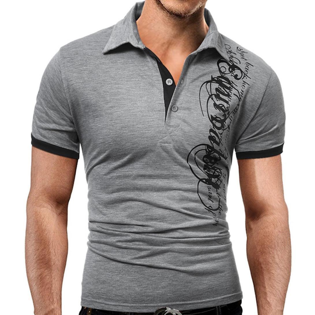 Homebaby® Camicia Uomo Elegante Maglietta Manica Corta Casual -Stampa di Lettere T-Shirt Uomo Vintage Cotone Stretch Maglione Uomo Tumblr Estiva Particolari Magliette Corte