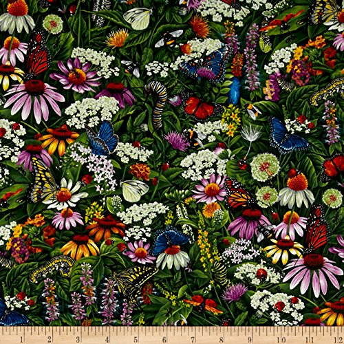 Fabri-Quilt Frolicking Fields Flowers & Insects Multi,