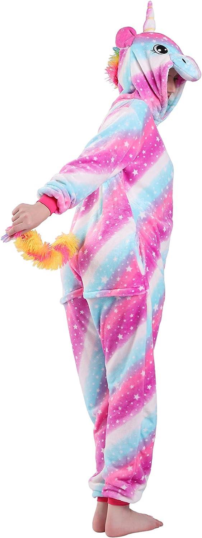 EJsoyo Onesie Pajama Women Adult and Teenagers Sleepwear Christmas Halloween Cartoon Animal Unicorn Cosplay Costume