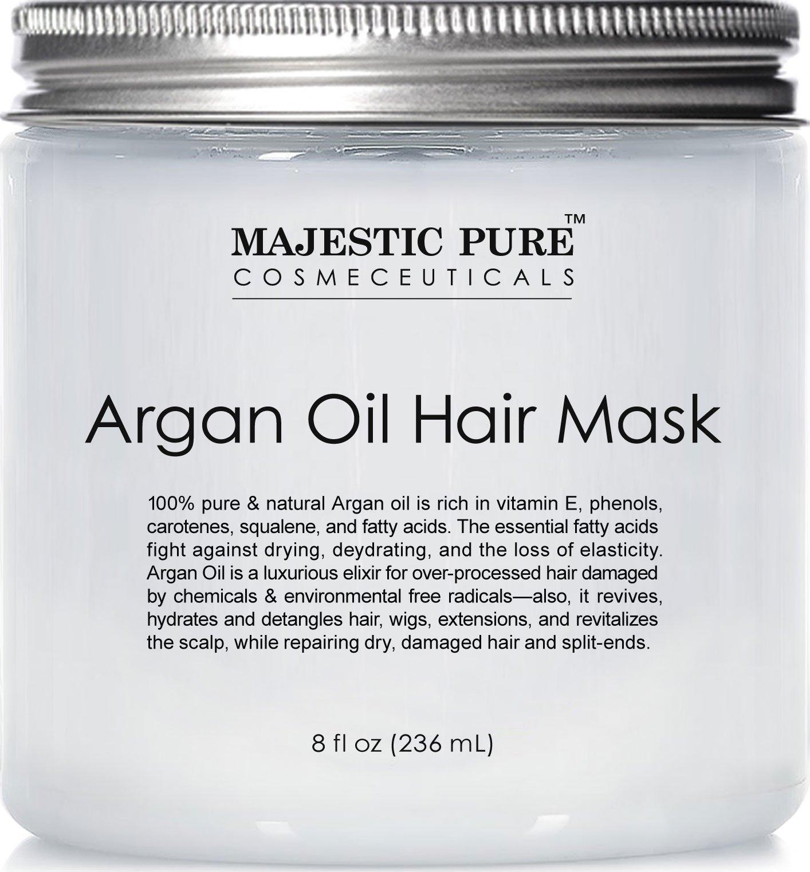 Majestic Pure Argan Hair Mask, Natural Hair Care Product, Hydrating & Restorative Hair Repair Mask - 8 fl Oz by Majestic Pure