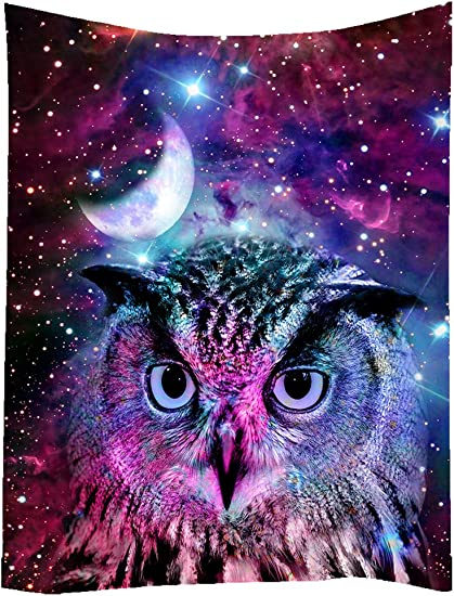 SXCHEN Hippie Tapestry Art Wall Hangings Tapestries Owl Moon Galaxy Star Animal 60 x80