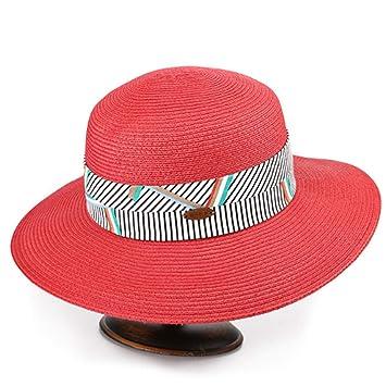 Hat Women Summer Straw Hat Beach Hut Sunscreen Folding Shade Sun Hat trend  (Color   66609675d