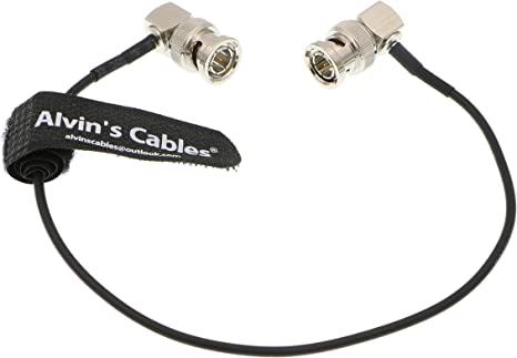 Both Right Angle Male BNC to BNC Connectors MOKOSE 9.8Ft 3G HD-SDI Cables 75 Ohm SDI BNC Male Silver-Plated Coax Cable 3M