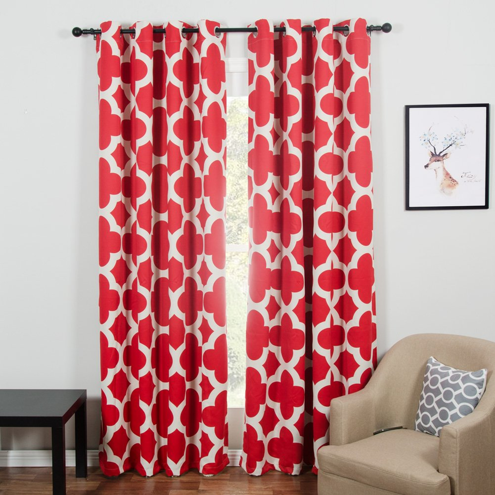 Red Top Finel 85/% Blackout Curtains for Bedroom Thermal Insulated Window Curtains 54x84 Inches Long Room Darkening Curtains Grommet Top Window Treatments 2 Panel