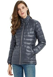 e36586948aa Amazon.com: SUNDAY ROSE Orange Puffer Jacket Women Fashion Padded ...