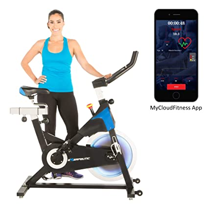 Exerpeutic LX 8 5 Indoor Cycling Exercise Bike with Bluetooth Smart  Technology