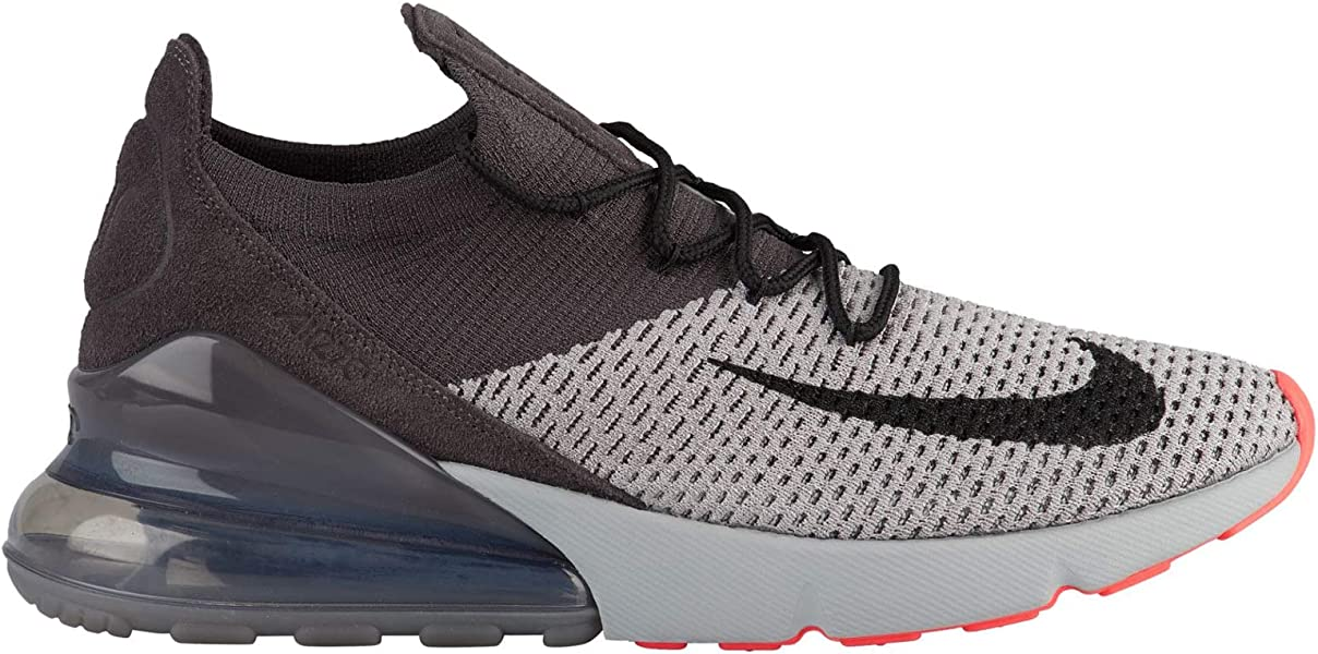 premium selection a76e2 06c80 Air Max 270 Flyknit - Men's Atmosphere Grey/Hyper Punch/Thunder Grey Nylon  Training Shoes 11 D(M) US