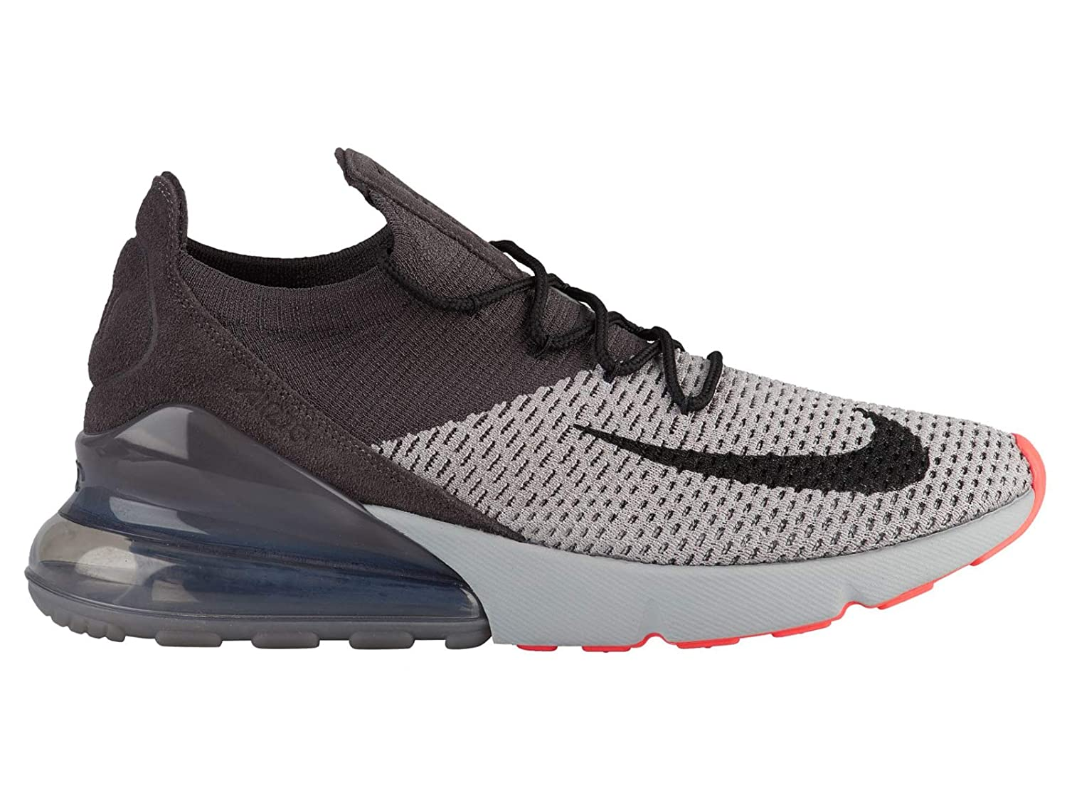 buy popular a84c3 0fb91 Amazon.com   Nike Air Max 270 Flyknit - Men s Atmosphere Grey Hyper  Punch Thunder Grey Nylon Training Shoes 10.5 D(M) US   Road Running