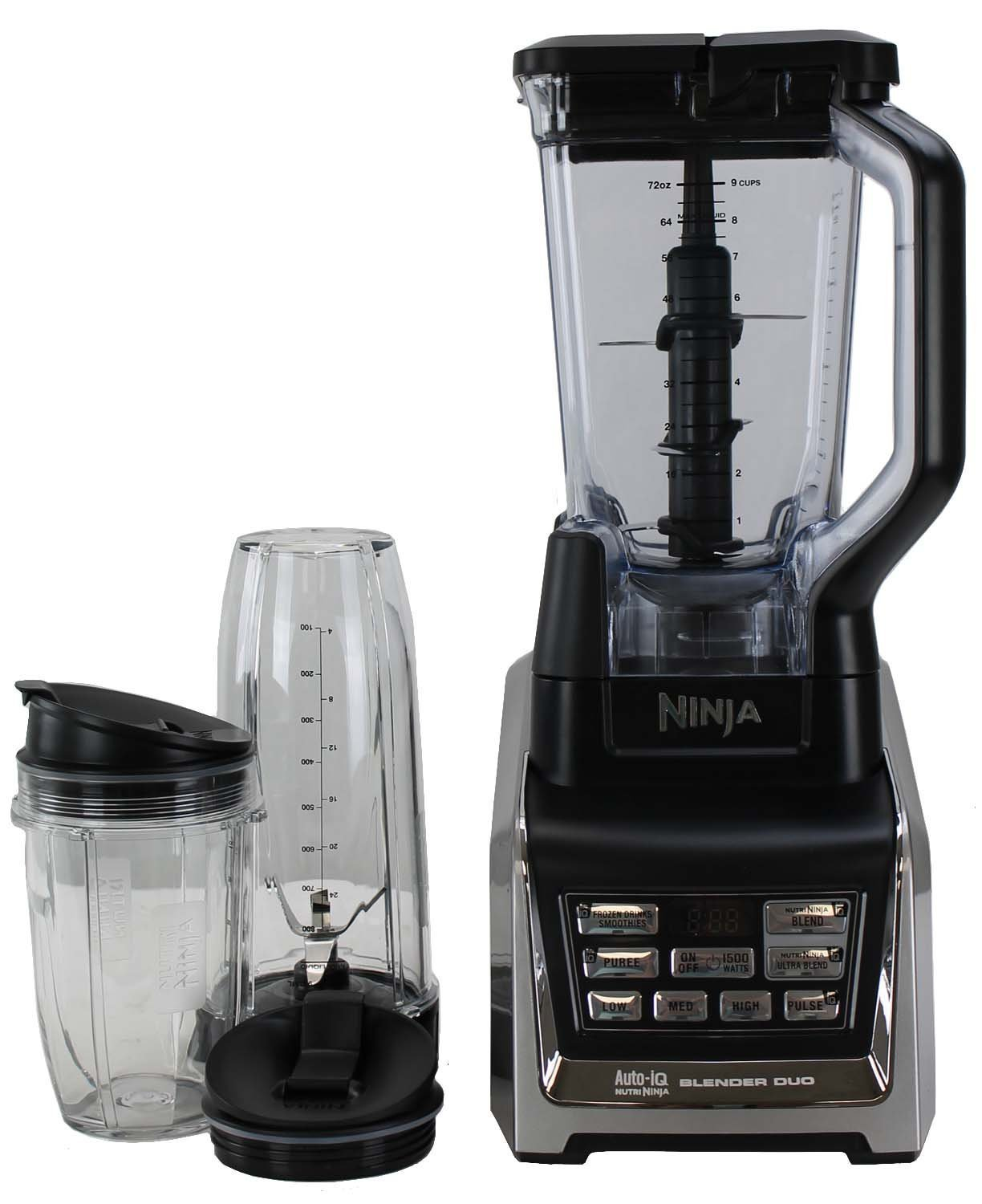 Nutri Ninja Two HP Blender Duo with Auto-iQ | BL642 (Renewed)