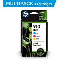 HP 910 | 4 Ink Cartridges | Black, Cyan, Magenta, Yellow | 3YL61AN, 3YL58AN, 3YL59AN, 3YL60AN